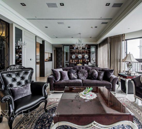 客廳裝潢設計-中和 遠雄玫瑰園
